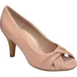 Women's A2 by Aerosoles Deluxe Peep Toe Pump Pink Faux Leather