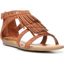 Women's Fergalicious Dusty Sandal Cognac Synthetic Suede