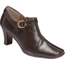 Women's Aerosoles Cingle Handed Bootie Brown Faux Leather