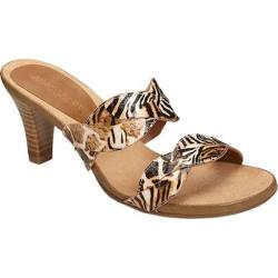 Women's Aerosoles Power Thru Slide Sandal Safari Printed Fabric