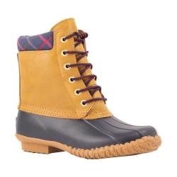 Women's Cougar Roger Duck Boot Navy Rubber/Tan Leather