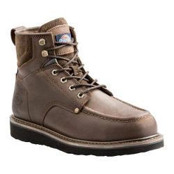 Men's Dickies Outpost 6in Work Boot Brown Full Grain Leather
