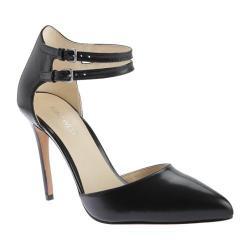 Women's Nine West Eastlyn Two Piece Shoe Black Leather
