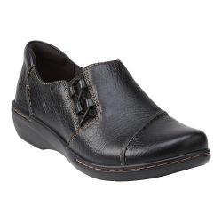 Women's Clarks Evianna Mix Black Tumbled Leather