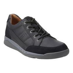 Men's Clarks Un.Pierce Time Sneaker Black Leather
