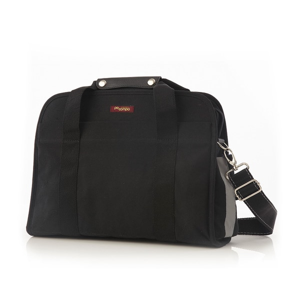 Po Campo Loop Pannier Black Waxed Canvas Bike Ride Messenger Bag