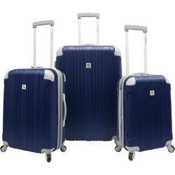 Beverly Hills Country Club Malibu 3-Piece Hardside Spinner Luggage Set Navy