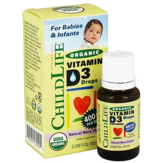 ChildLife 0.338-ounce Natural Berry Flavor Organic Vitamin D3 Liquid