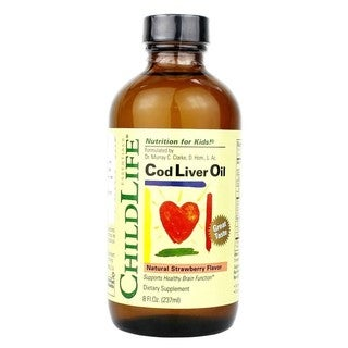 ChildLife 8-ounce Natural Strawberry Flavor Cod Liver Oil