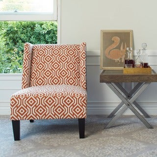 angelo:HOME Barton Lorin Square Autumn Orange Armless Wingback Chair