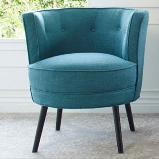 angelo:Home Lily Upholstered Midnight Paris Sky Blue Armless Chair