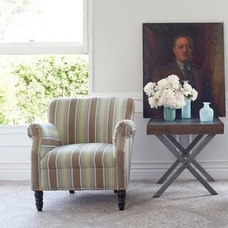 angelo:HOME Carissa Autumn Grey Stripe Arm Chair
