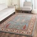 Safavieh Hand-Tufted Heritage Blue/ Ivory Wool Rug (6' x 9')