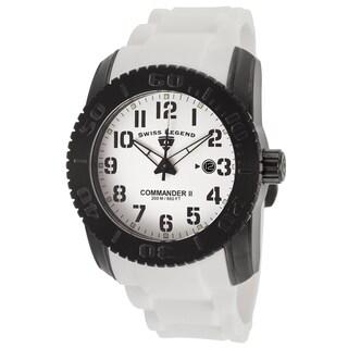 Swiss Legend Men's SL-10068-BB-02 Commander White Watch