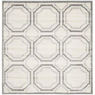 Safavieh Indoor/ Outdoor Amherst Ivory/ Light Grey Rug (5' Square)