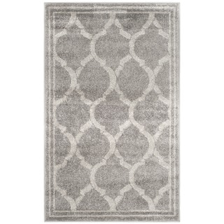 Safavieh Indoor/ Outdoor Amherst Grey/ Light Grey Rug (2'6 x 4')