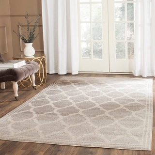 Safavieh Indoor/ Outdoor Amherst Light Grey/ Ivory Rug (8' x 10')