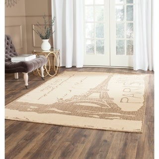 Safavieh Indoor/ Outdoor Courtyard Beige/ Brown Rug (8' x 11'2)