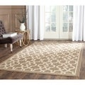 Safavieh Indoor/ Outdoor Courtyard Mocha/ Beige Rug (5'3 x 7'7)