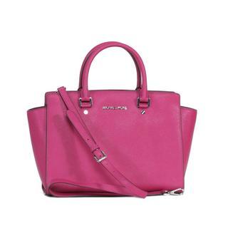 Michael Kors Deep Pink Selma Large Top-zip Satchel