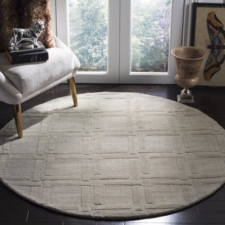 Safavieh Handmade Impressions Grey Wool Rug (5' Round)