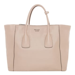 Prada Vitello Gold Smooth Leather Tote