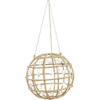 Jute Lurex Crystal Ball Ornament