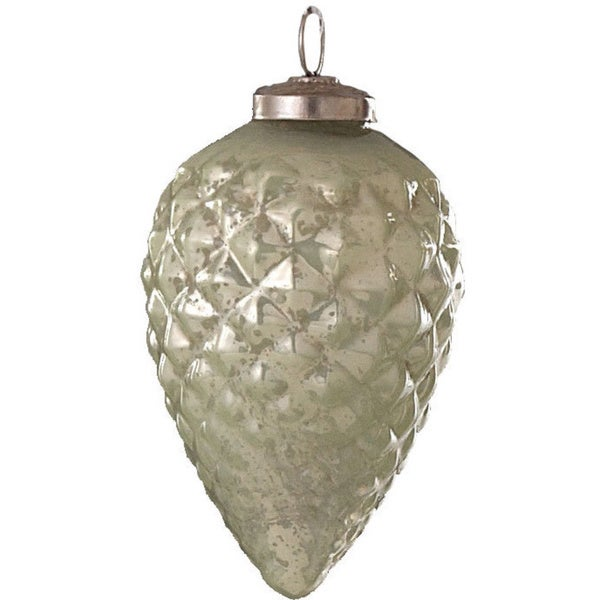 Glass Pine Cone Ornament
