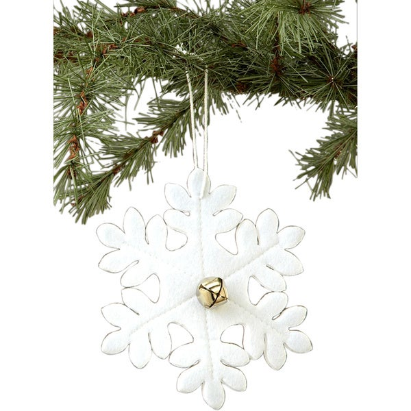 Felt Snowflake Ornament 25-inch