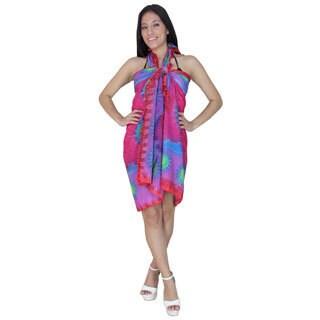 La Leela Pink Sun Print Chiffon Sarong