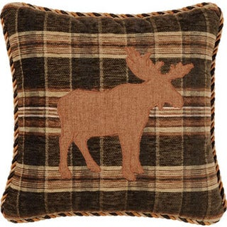 Woodland Moose 16-inch Decorative Throw Pillow