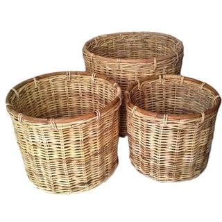 Round Jawit Kubu Rattan Baskets (Set of 3)