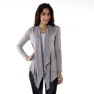 Hadari Women's Grey Light Knit Cardigan