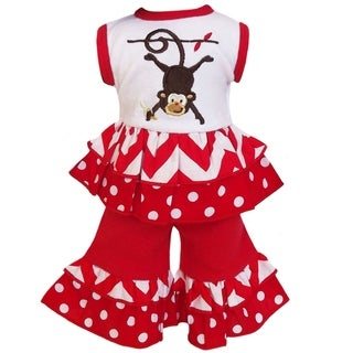 AnnLoren Chevron and Dot Monkey Tank 2-piece Doll Outfit