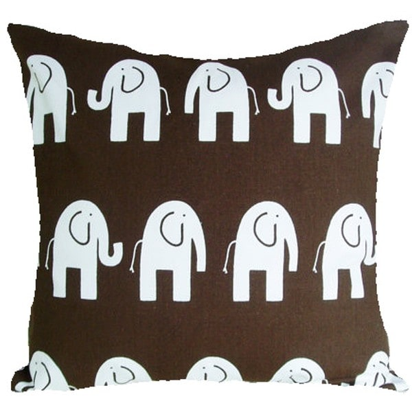 Nursery Elephants Brown Cushion Cover