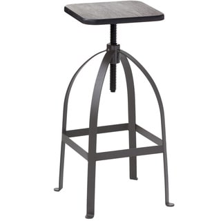 Sunpan Churchill Adjustable White Barstool 14285036