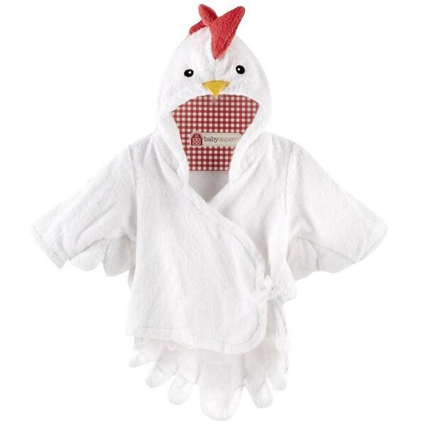 Baby Aspen Barnyard Bathtime Chicken Hooded Spa Towel