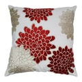 Blazing Needles 20-inch Indian Floral Bursts Velvet Applique Throw Pillow