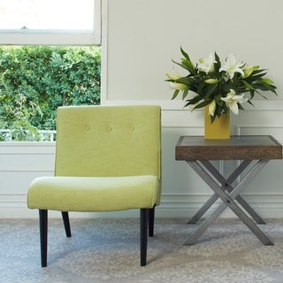angelo:HOME Finley Celery Green Linen Armless Chair