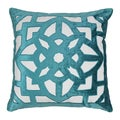 Blazing Needles 20-inch Indian Geometric Elegance Velvet Applique Throw Pillow