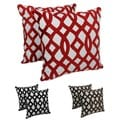 Blazing Needles 20-inch Indian Trellis Velvet Applique Throw Pillows (Set of 2)