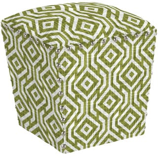angelo:HOME Easton Lorin Square Mossy Green Ottoman