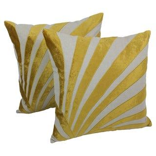 Blazing Needles 20-inch Indian Sun Ray Velvet Applique Throw Pillows (Set of 2)