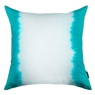 Sea Green Ombre Cotton Throw Pillow