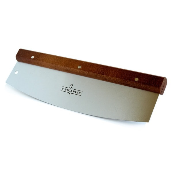 Stainless Steel/ Walnut 14-inch Pizza Cutter