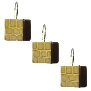 Sherry Kline It's a Croc Natural Shower Curtain Hooks (Set of 12)