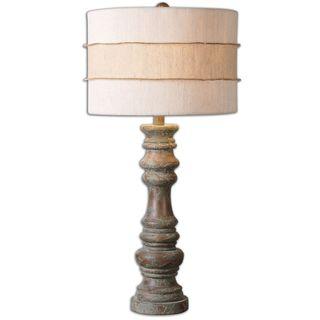 Gerlind Dark Pecan Wood Table Lamp