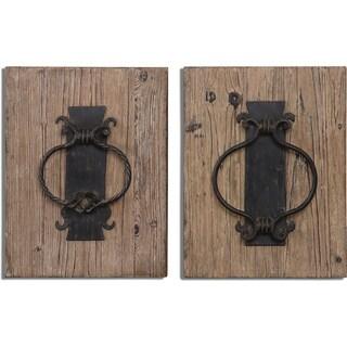Rustic Door Knockers Wall Art (Set of 2)