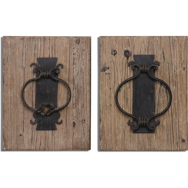 Uttermost Rustic Door Knockers Wall Art (Set of 2) 14603944