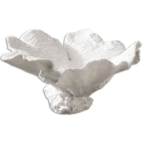 Uttermost Ali Textured White Bowl